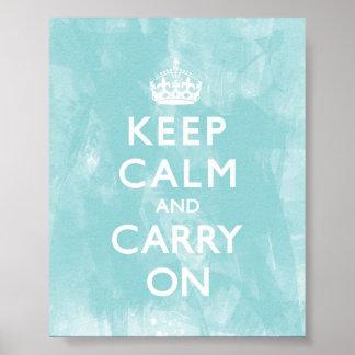 Poster Le bleu d'Aqua gardent le calme et continuent