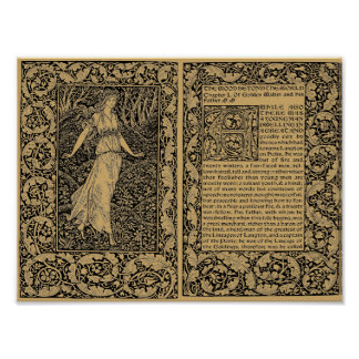 Poster Le bois au delà du monde par William Morris
