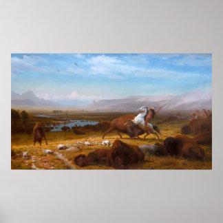Poster Le bout de Buffalo par Albert Bierstadt