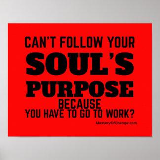 Poster Le but et le travail de l'âme