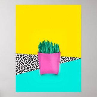 Poster Le cactus fait frire le style 90s