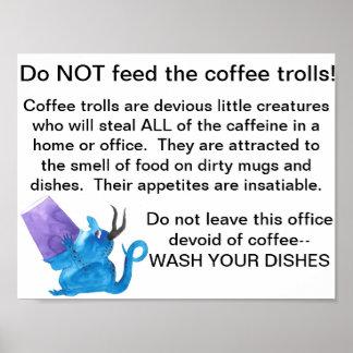 Poster Le café pêche l'affiche de bureau