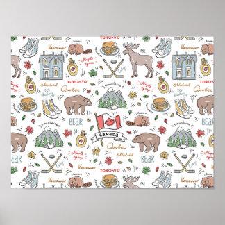 Poster Le Canadien gribouille l'affiche