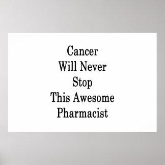 Poster Le Cancer n'arrêtera jamais ce pharmacien