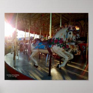 Poster Le carrousel juste de carnaval Joyeux-Vont-Roung