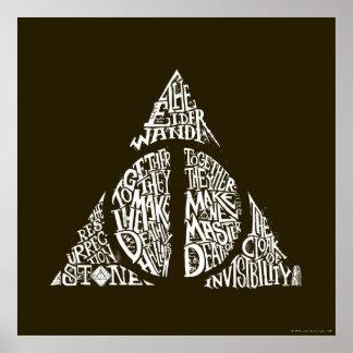 Poster Le charme   de Harry Potter DE MORT SANCTIFIE la