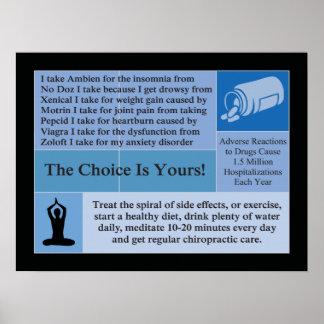 Poster Le choix est à vous affiche de chiropractie