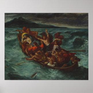 Poster Le Christ endormi pendant la tempête
