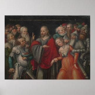 Poster Le Christ et l'adultère