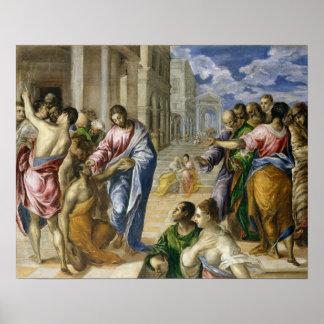 Poster Le Christ guérissant les aveugles