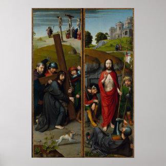 Poster Le Christ portant la croix