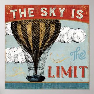 Poster Le ciel chaud de ballon à air est la citation de
