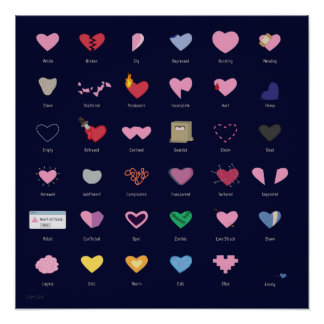 Poster Le coeur dactylographie l'affiche
