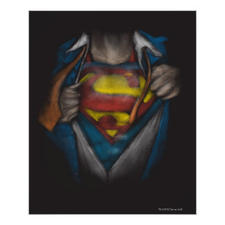 Poster Le coffre de Superman   indiquent le croquis