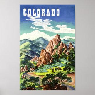 Poster Le Colorado, affiche vintage de voyage