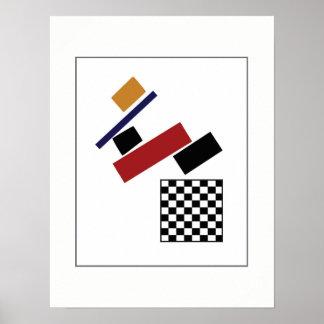 Poster Le contrôleur superbe, après Malevich