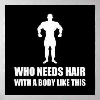 Poster Le corps chauve de cheveux aiment ceci drôle