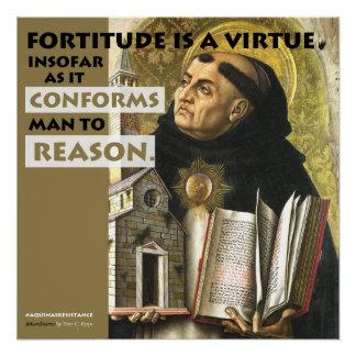 Poster Le courage est une affiche de résistance d'Aquinas