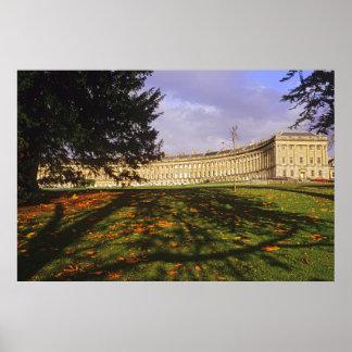 Poster Le croissant royal, Bath