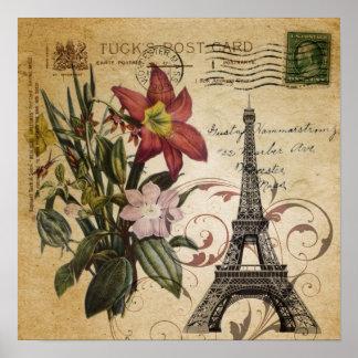 Poster Le cru botanique de lis scripts Tour Eiffel de