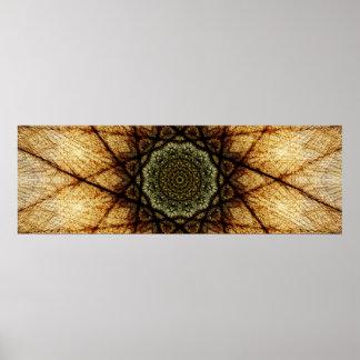 Poster Le cru colore le mandala panoramique de |