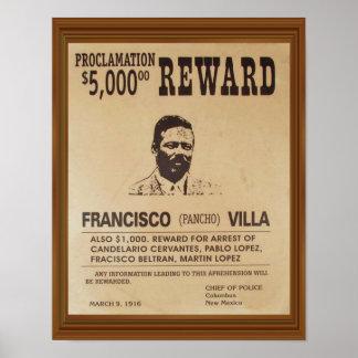 Poster Le cru de Pancho Villa a voulu la récompense