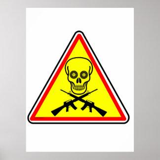 Poster Le danger signe la copie archivistique d'armes