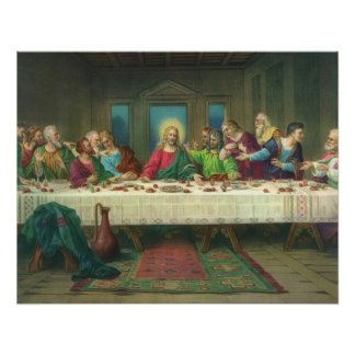 Poster Le dernier dîner par Leonardo da Vinci