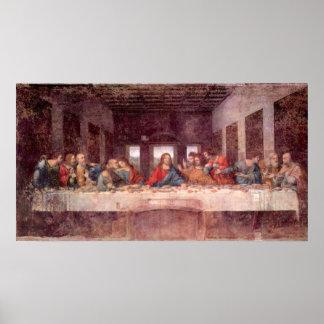 Poster Le dernier dîner par Leonardo da Vinci, la