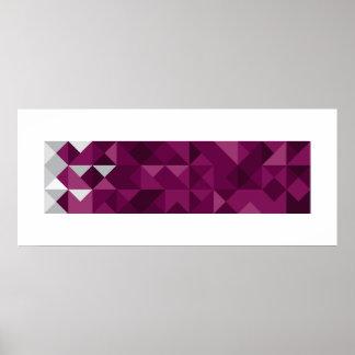 Poster Le drapeau abstrait du Qatar, Qatari colore