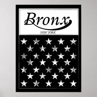 Poster Le drapeau américain de Bronx   New York