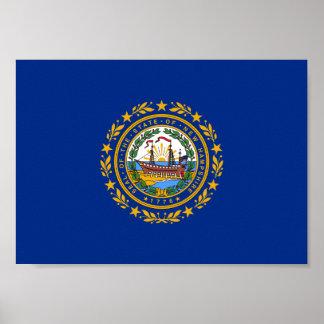 Poster Le drapeau du New Hampshire