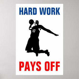 Poster Le dur labeur éponge l'art de bruit de sport de