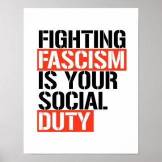 Poster Le fascisme de combat est votre devoir social -