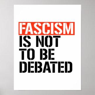 Poster Le fascisme ne doit pas être discuté -