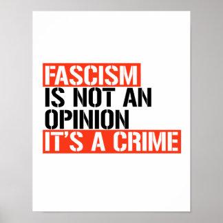 Poster Le fascisme n'est pas une opinion -