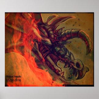 Poster Le feu de dragon