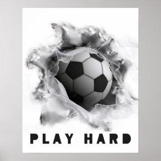 Poster Le football de motivation
