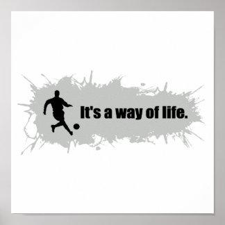 Poster Le football est un mode de vie