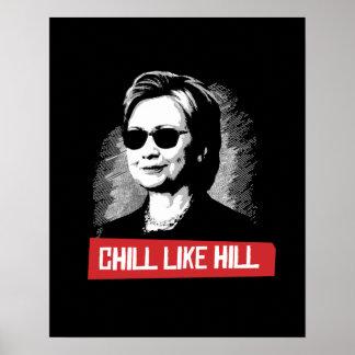 Poster Le froid aiment la colline -- Élection