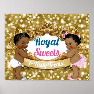 Poster Le genre africain royal indiquent le signe de