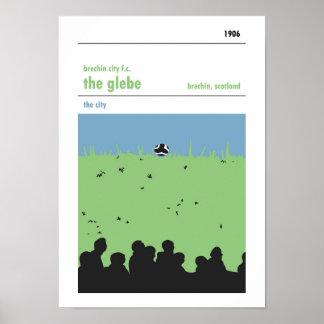 Poster Le Glebe, Brechin. Copie manuelle de style de