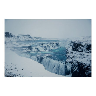 Poster Le Godafoss puissant