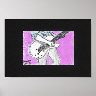 Poster le guitariste