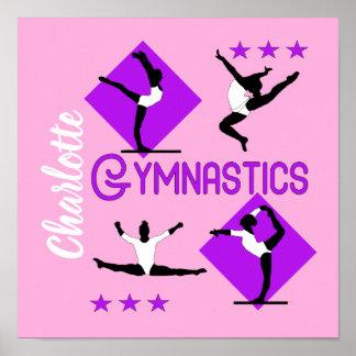 Poster Le gymnaste figure la gymnastique mignonne de