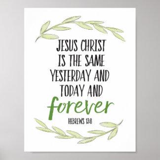 Poster Le Jésus-Christ est la même copie d'art de Forever