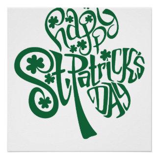 Poster Le jour de St Patrick heureux
