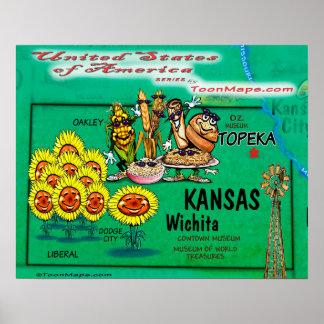 Poster Le Kansas Etats-Unis