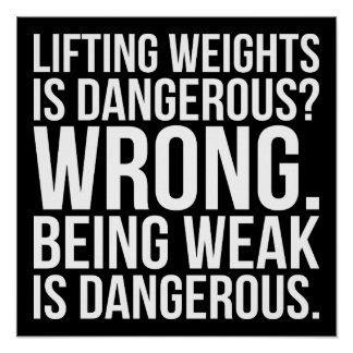 Poster Le levage des poids est dangereux contre être