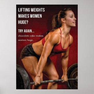 Poster Le levage des poids rend des femmes énormes ?